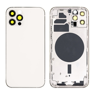 Replacement For iPhone 12 Pro Rear Housing with Frame - Silver