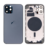 Replacement For iPhone 12 Pro Rear Housing with Frame - Pacific Blue