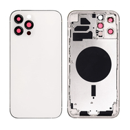 Replacement For iPhone 12 Pro Max Rear Housing with Frame - Silver