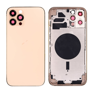 Replacement For iPhone 12 Pro Max Rear Housing with Frame - Gold