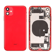 Replacement for iPhone 11 Back Cover Full Assembly - Red
