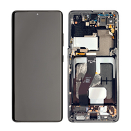 Replacement for Samsung Galaxy S21 Ultra OLED Screen Assembly with Frame - Phantom Black