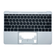 """Silver Upper Case with Keyboard for MacBook Retina 12"""" A1534 (Early 2016 - Mid 2017)"""