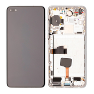 Replacement for Huawei P40 LCD Screen Digitizer Assembly with Frame - Silver Frost