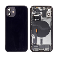 Replacement for iPhone 12 Back Cover Full Assembly - Black