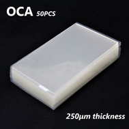 50pcs OCA Optical Clear Adhesive Double-side Sticker for Samsung Galaxy S4/A5/J310 LCD Digitizer, Thickness: 0.25mm