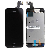 Replacement for iPhone 5S LCD Screen Full Assembly with Black Ring - Black