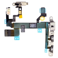 Replacement for iPhone 5S Power ON/OFF Control Flex Cable Assembly with metal plate