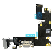 Replacement for iPhone 6 Plus Headphone Jack with Charging Connector Flex Cable - Dark Gray