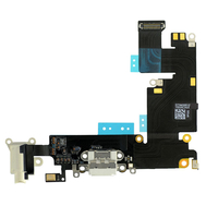 Replacement for iPhone 6 Plus Headphone Jack with Charging Connector Flex Cable - White