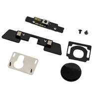 Replacement for iPad 3 Digitizer Mounting Kit with Black Button-Black