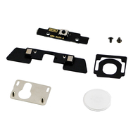 Replacement for iPad 3 Digitizer Mounting Kit with White Button-White