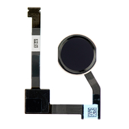 """Replacement for iPad Air 2 / iPad Mini 4 / iPad Pro 12.9"""" Home Button Assembly with Flex Cable Ribbon - Black"""