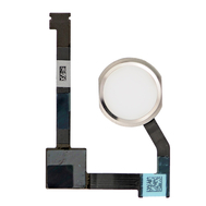"""Replacement for iPad Air 2 / iPad Mini 4 / iPad Pro 12.9"""" Home Button Assembly with Flex Cable Ribbon - Silver"""