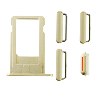 Replacement for iPhone 6 Plus Side Buttons Set with SIM Tray - Gold