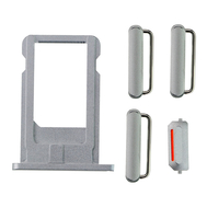 Replacement for iPhone 6 Plus Side Buttons Set with SIM Tray - Gray