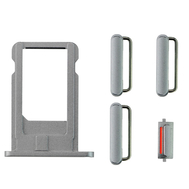 Replacement for iPhone 6 Side Buttons Set with SIM Tray - Gray