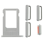 Replacement for iPhone 6 Side Buttons Set with SIM Tray - Silver