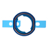 "Replacement for iPad Air 2 / iPad Mini 4 / iPad Pro 12.9"" Home Button Rubber Gasket"