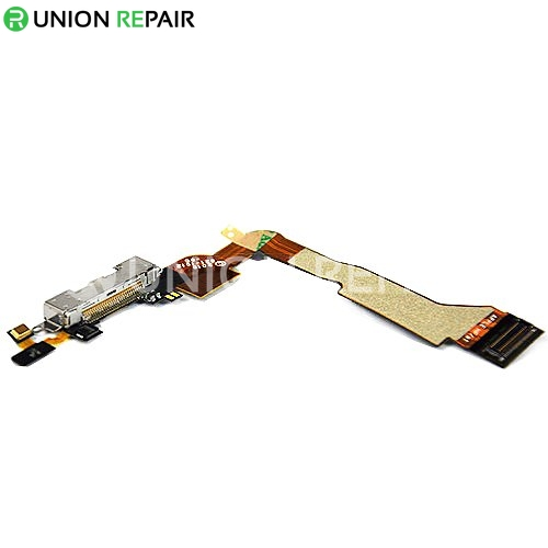 Replacement For iPhone 4 CDMA Dock Connector Flex Cable White 3