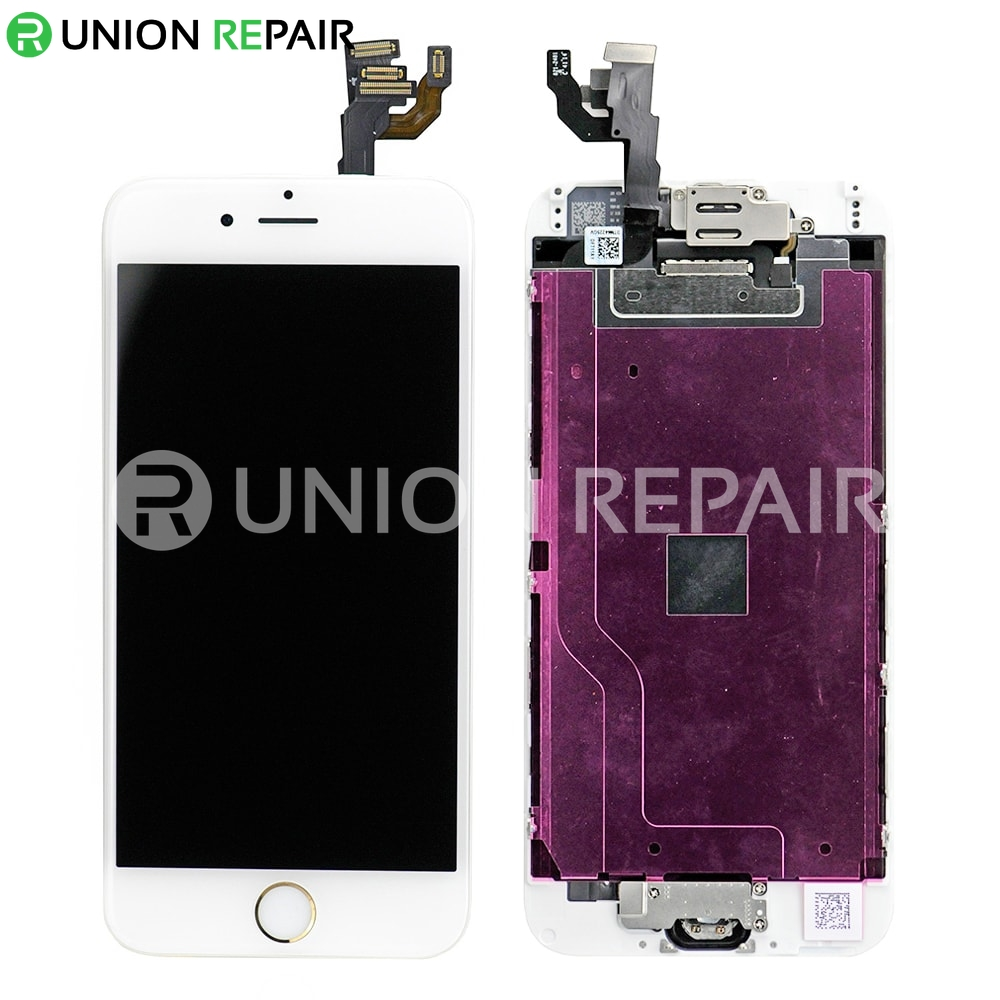 Replacement for iPhone 6 LCD Screen Full Assembly with Gold Ring - White