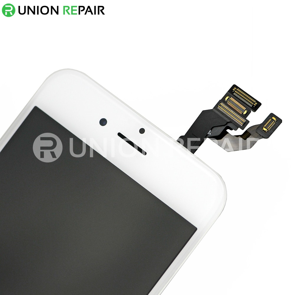 Replacement for iPhone 6 LCD Screen Full Assembly with Silver Ring - White