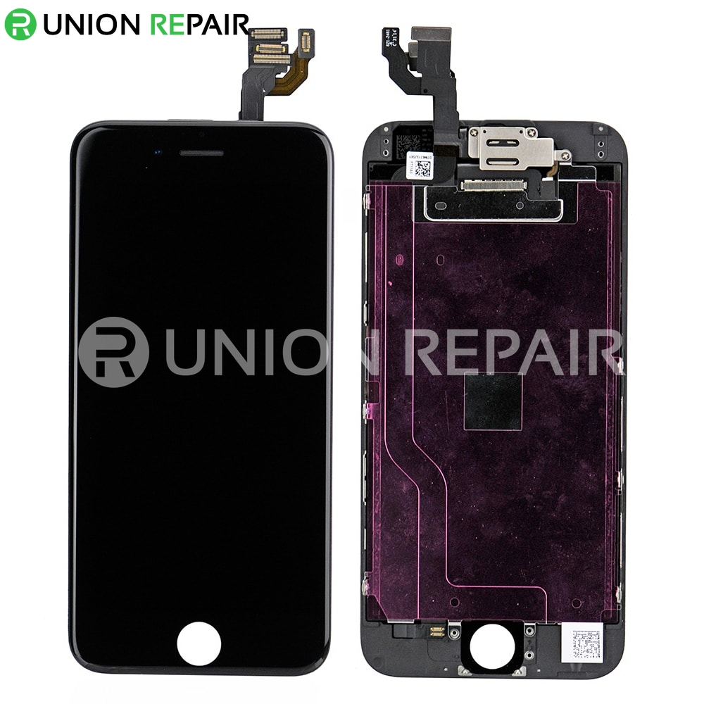 replacement for iphone 6 lcd screen full assembly without home button black. Black Bedroom Furniture Sets. Home Design Ideas