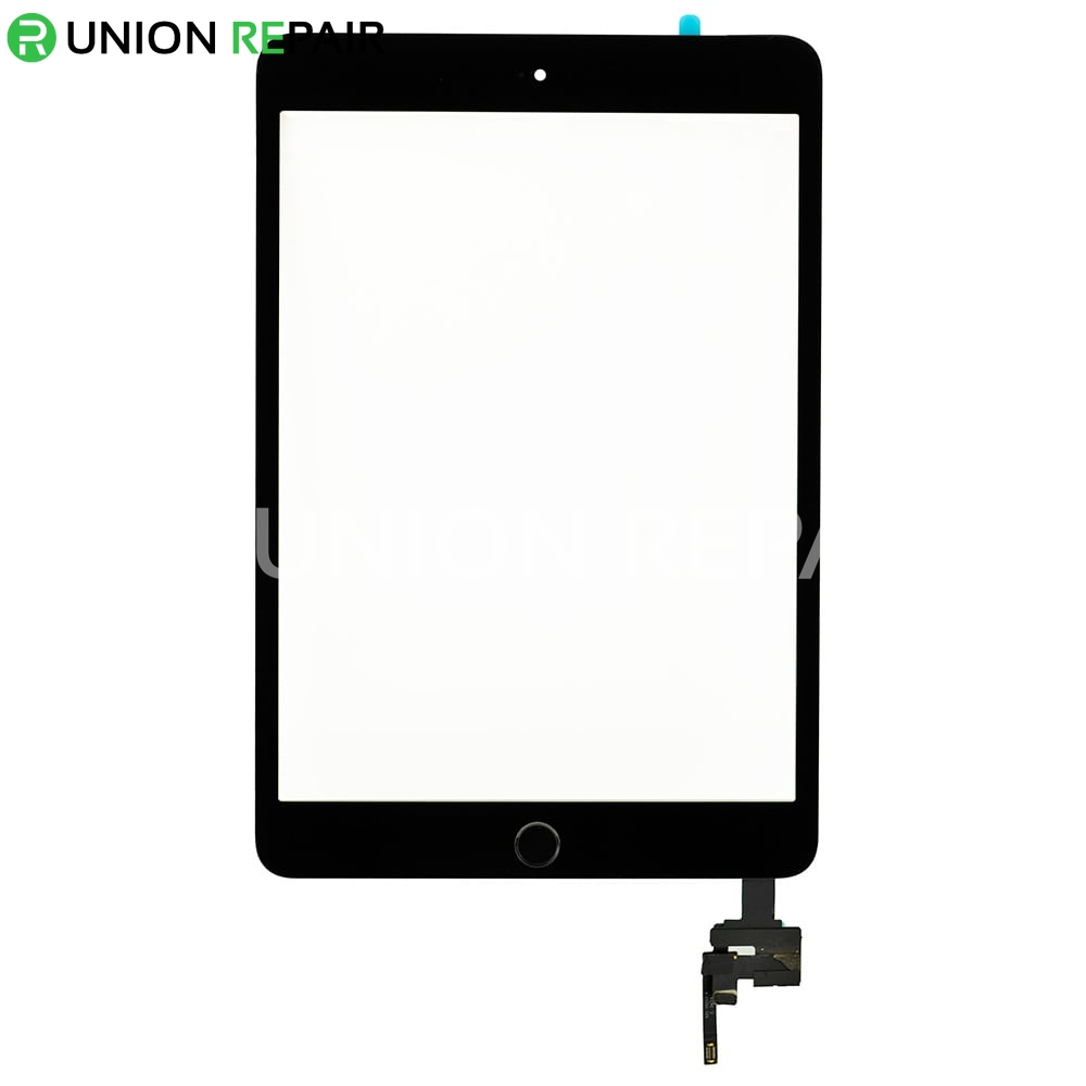 Replacement for iPad Mini 3 Digitizer Assembly With Black Home Buttom Assembly - Black