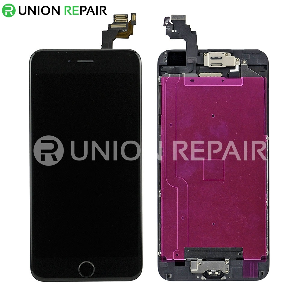 Replacement for iPhone 6 Plus LCD Screen Full Assembly with Black Ring - Black