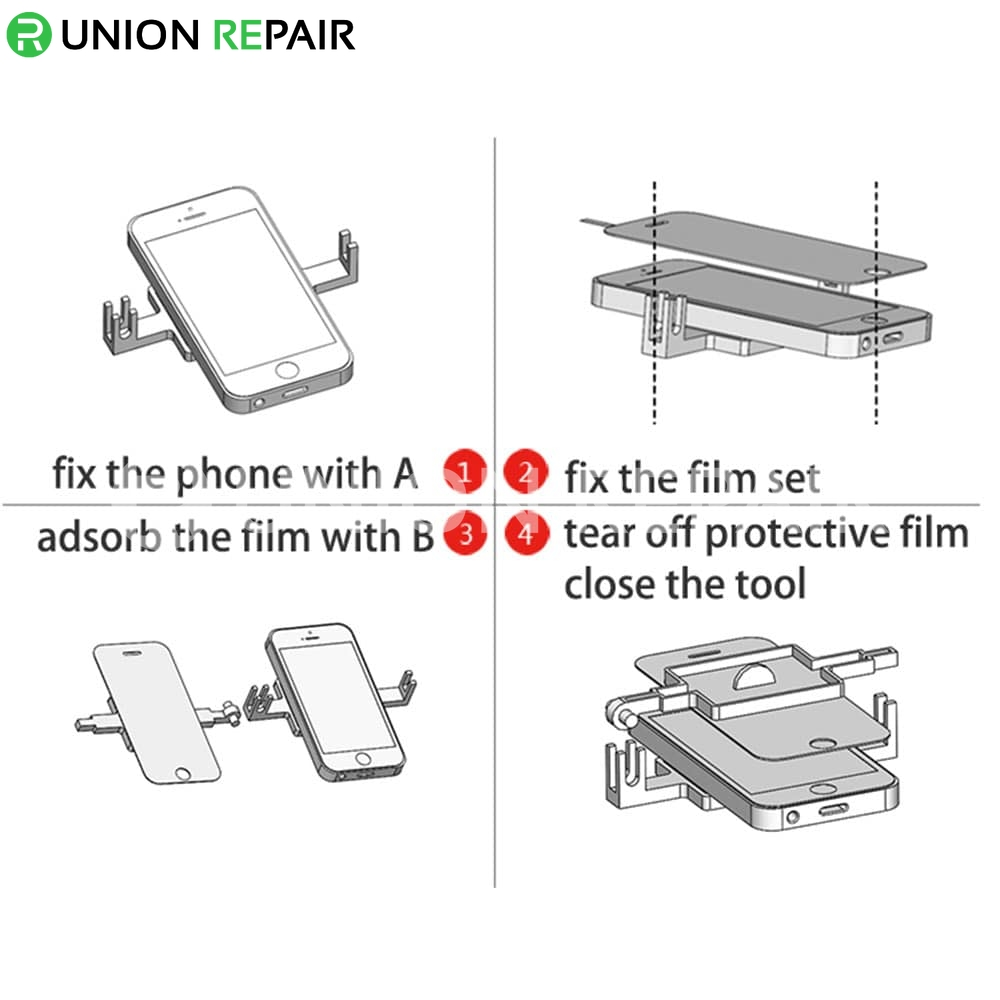 Termpered Glass Screen Protector Pasting Tool