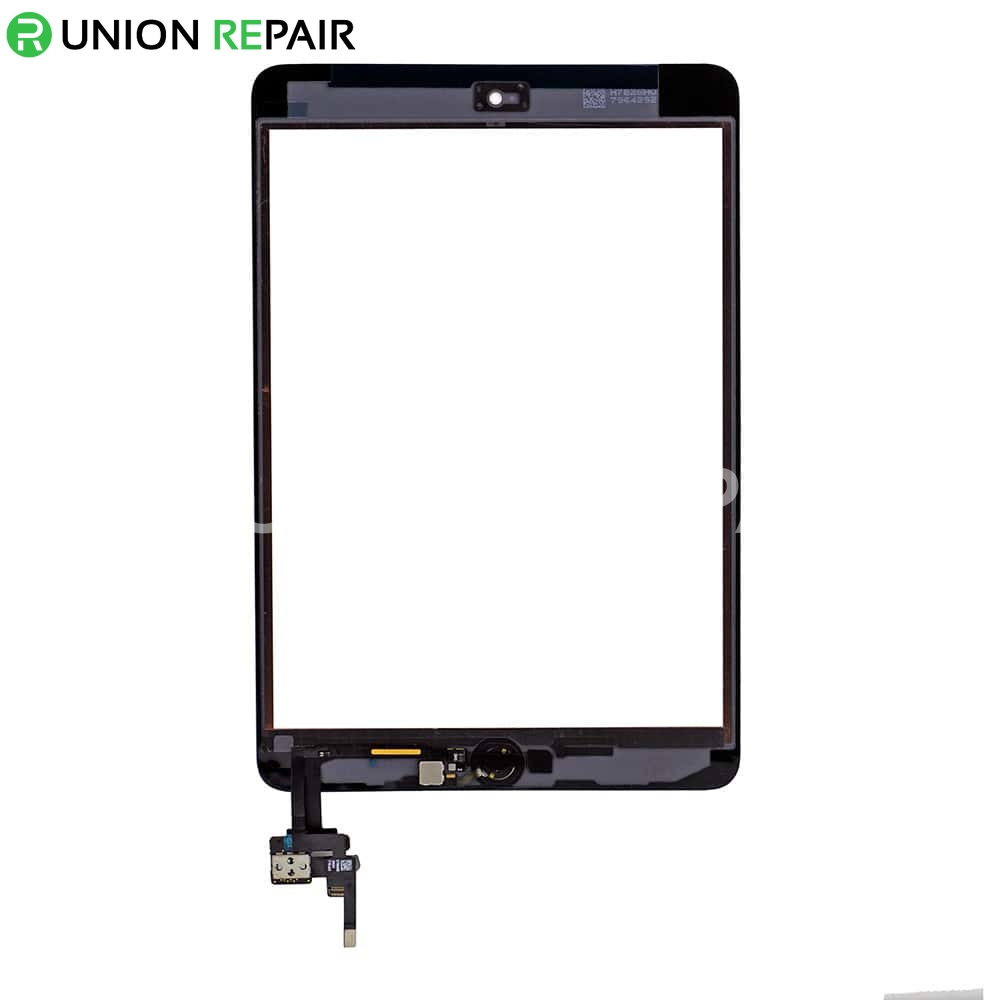 Replacement for iPad Mini 3 Digitizer Assembly With Gold Home Buttom Assembly - White