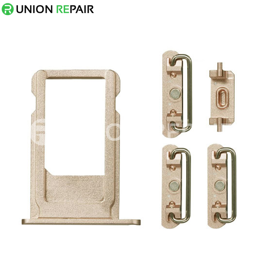 Replacement for iPhone 6S Plus Side Buttons Set with SIM Tray - Gold