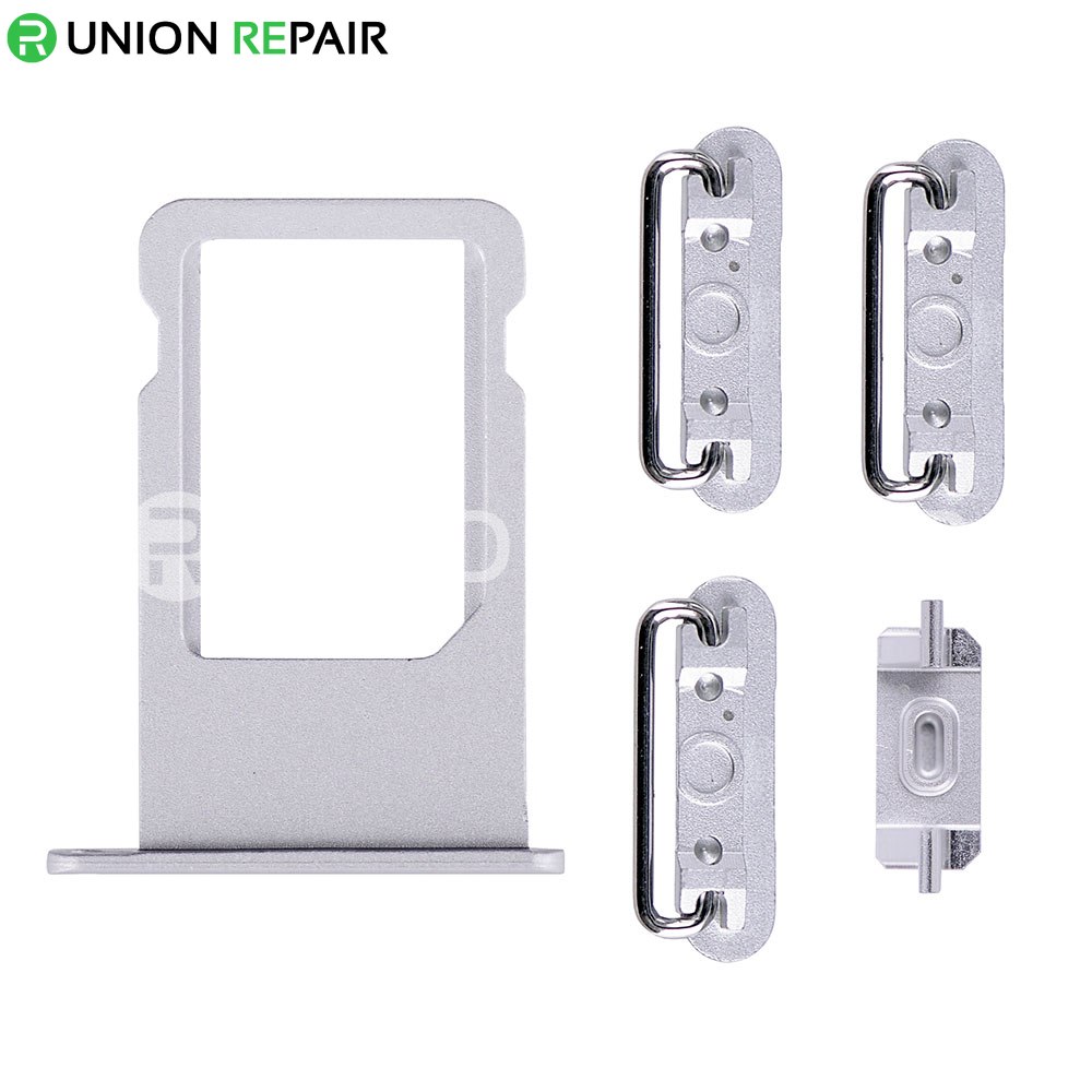 Replacement for iPhone 6S Plus Side Buttons Set with SIM Tray - Silver