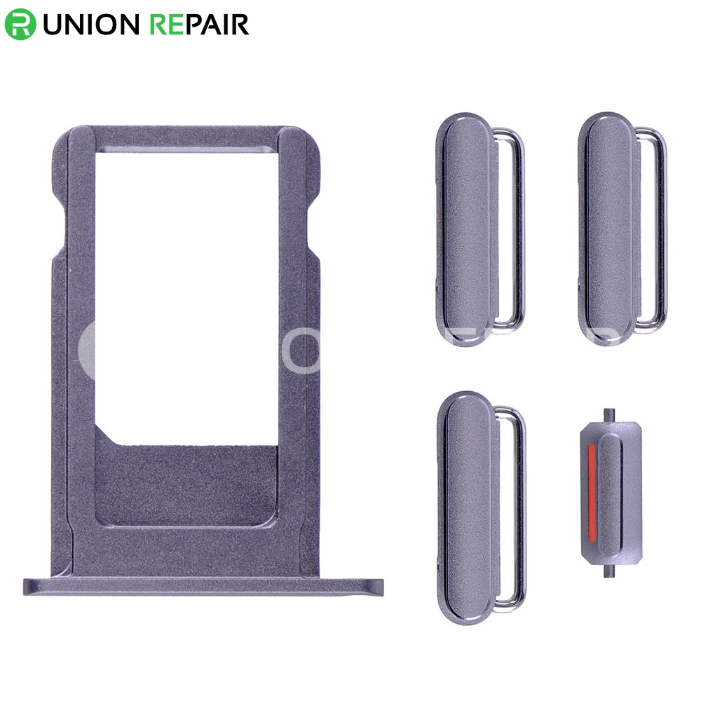 Replacement for iPhone 6S Side Buttons Set with SIM Tray - Grey