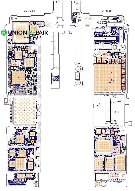 schematic diagram searchable pdf for iphone 6s 6s plus rh unionrepair com