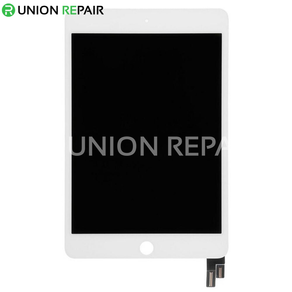 Replacement for iPad Mini 4 LCD with Digitizer Assembly without Home Button - White