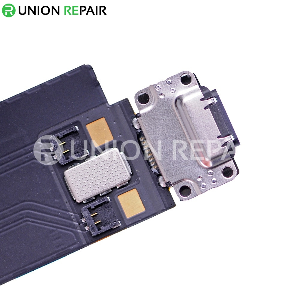 """Replacement for iPad Pro 12.9"""" USB Charging Connector Flex Cable WLAN + Cellular Version - Black"""