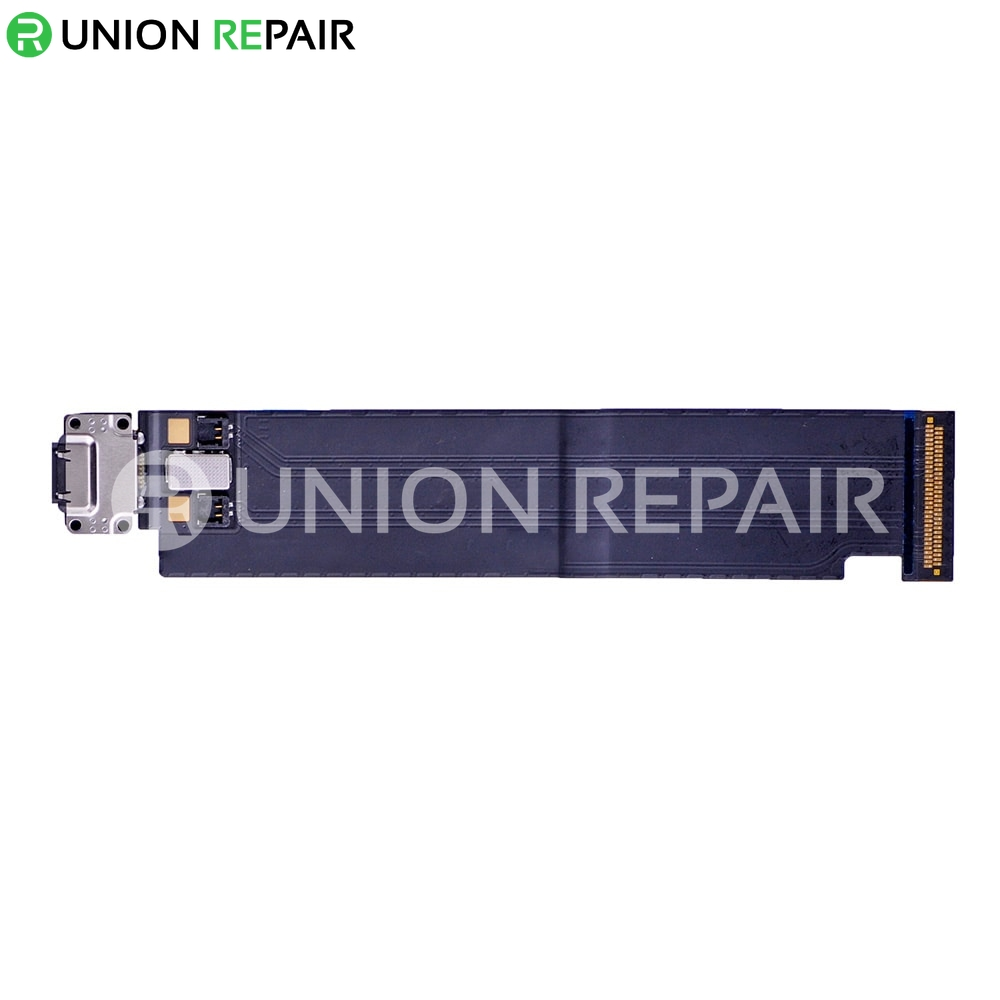 """Replacement for iPad Pro 12.9"""" USB Charging Connector Flex Cable WiFi Version - Black"""