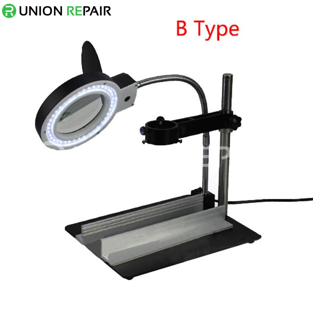 Desktop Magnifier Illuminated LED Lights Maintenance Platform YIHUA-628TD #YIHUA