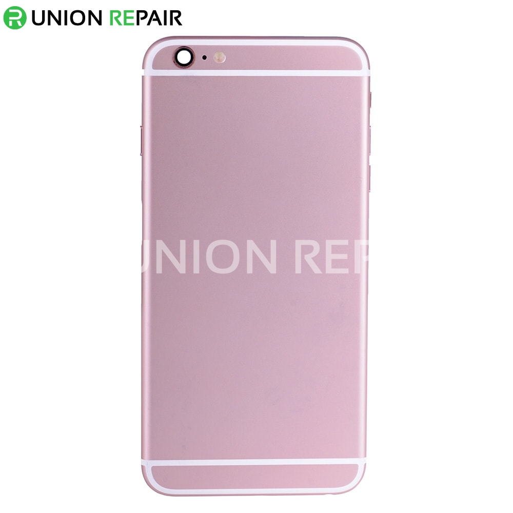 replacement for iphone 6s plus back cover full assembly rose. Black Bedroom Furniture Sets. Home Design Ideas