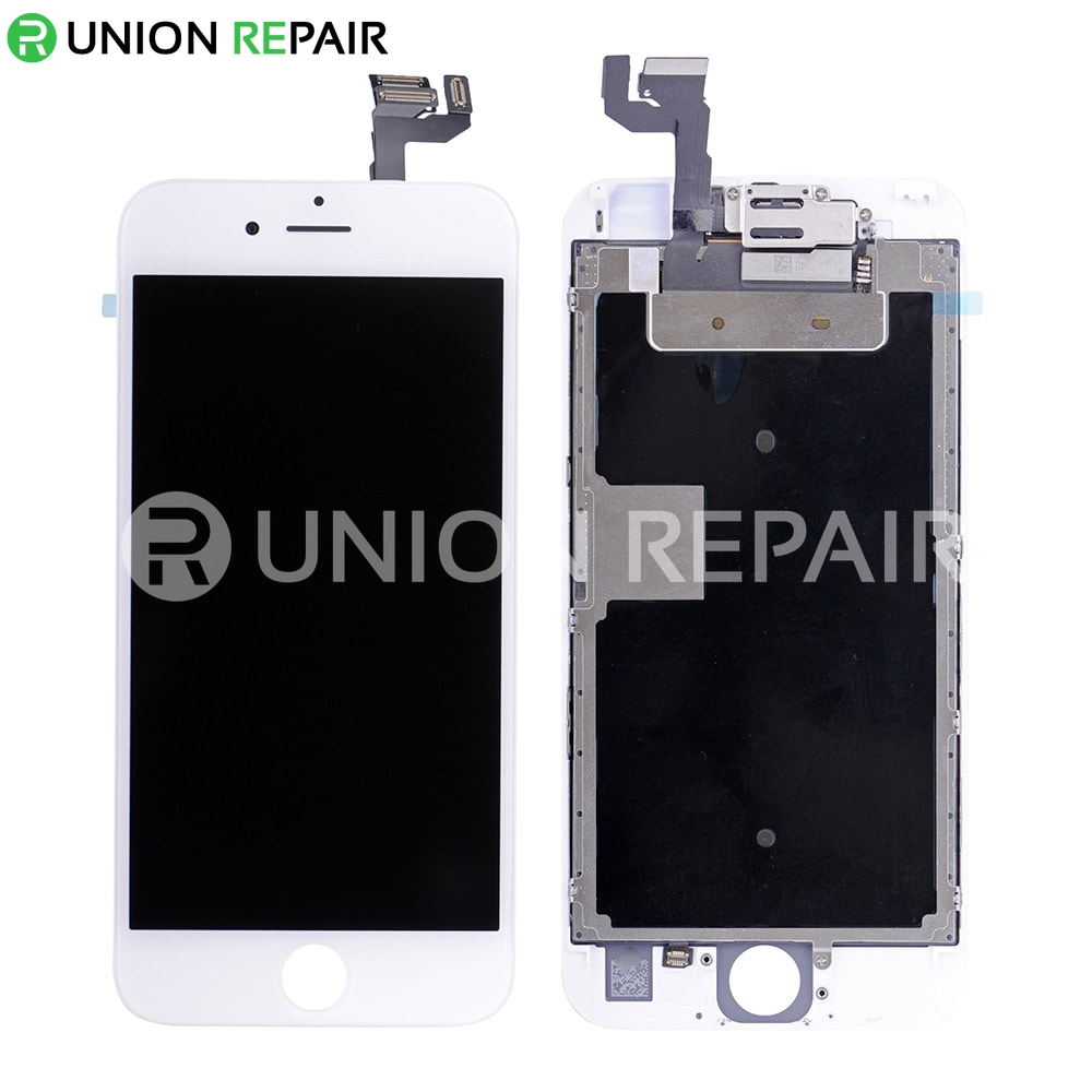 Replacement for iPhone 6S Plus LCD Screen Full Assembly without Home Button - White