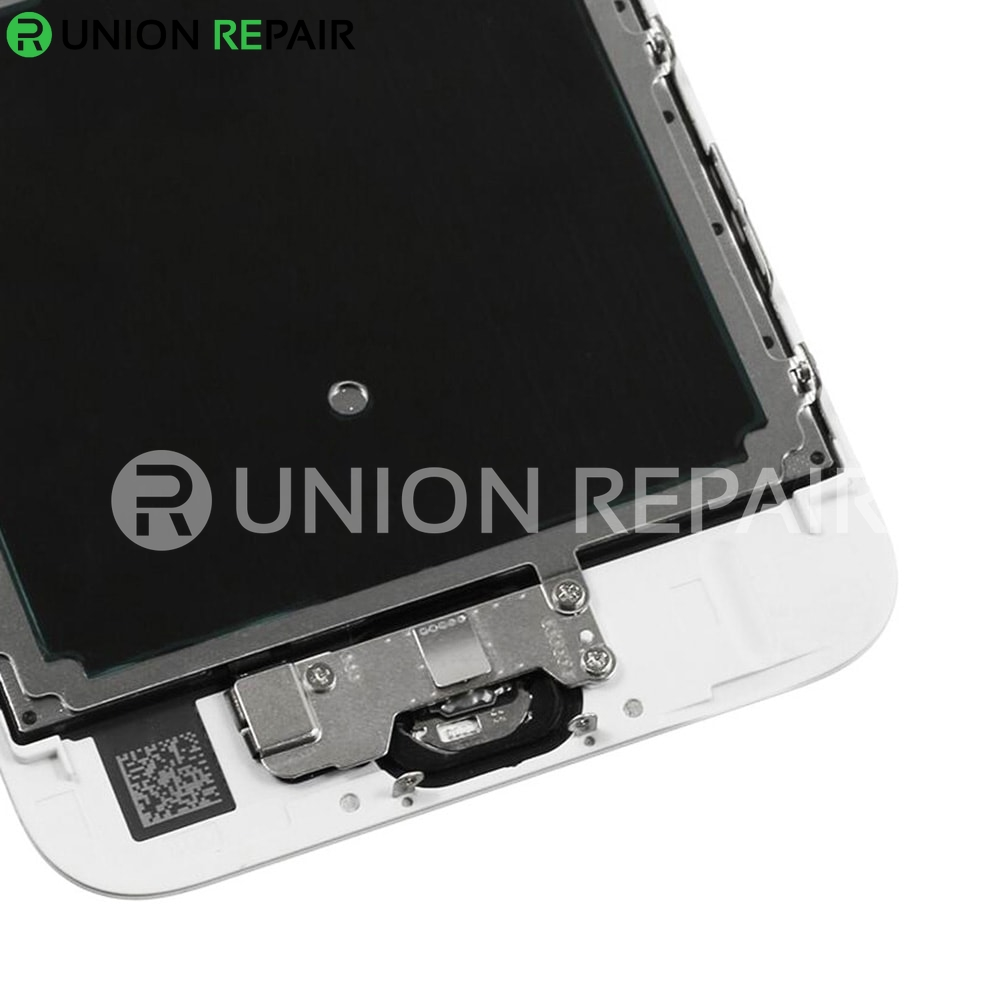 Replacement for iPhone 6S LCD Screen Full Assembly with Rose Ring Home Button - White