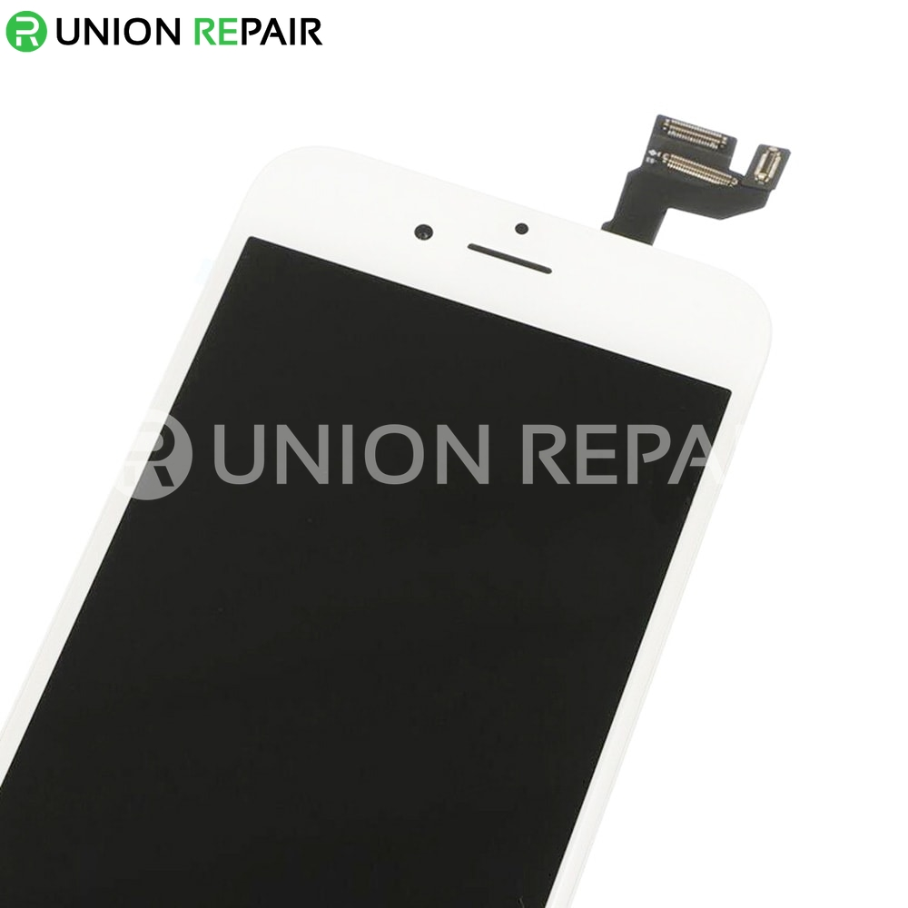 Replacement for iPhone 6S LCD Screen Full Assembly with Silver Ring Home Button - White