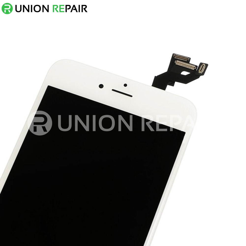 Replacement for iPhone 6S Plus LCD Screen Full Assembly with Silver Ring Home Button - White