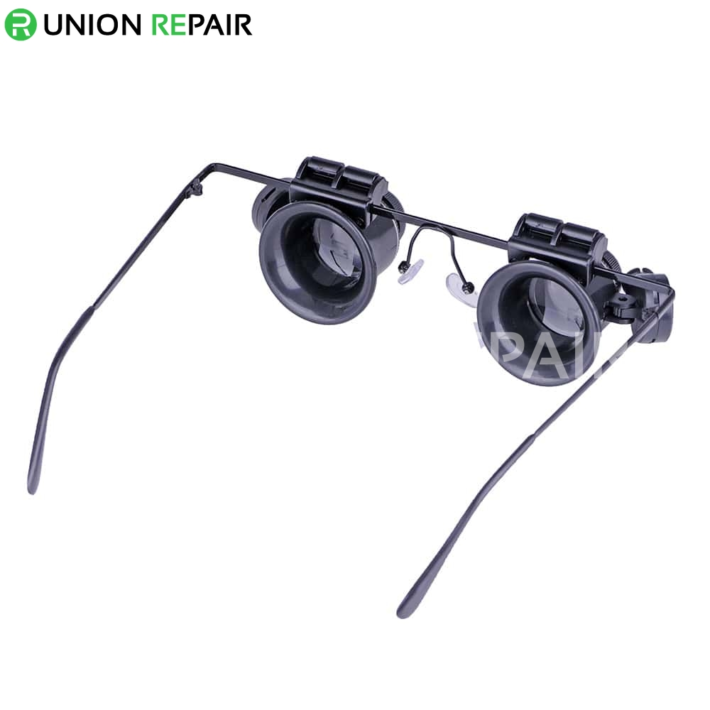 Multiple 20x Glasses Type Watch Repair Magnifier With LED Light #9892A