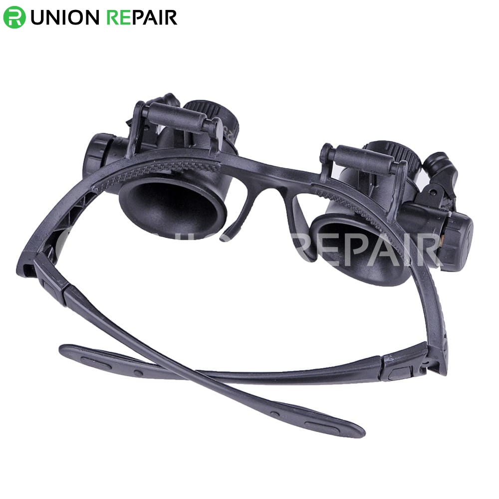 Lens Magnification 10x 15x 20x 25x Glasses Type Watch Repair Magnifier With LED Light #9892GJ