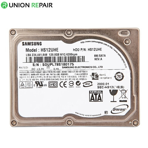 Samsung HS12UHE 120GB Hard Drive