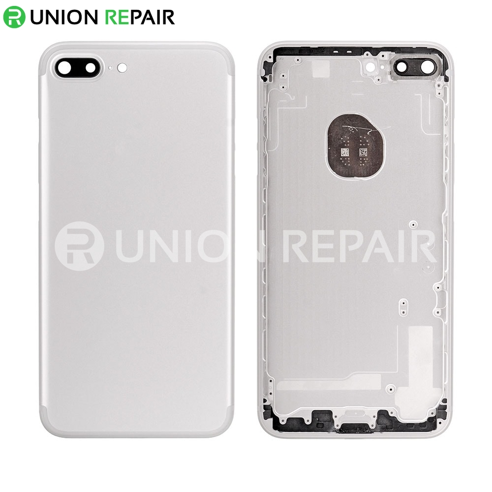save off 96f7b 8dd14 Replacement for iPhone 7 Plus Back Cover - Silver