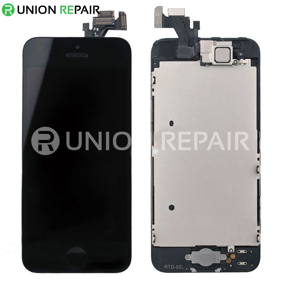 iphone 5 black screen replacement for iphone 5 lcd screen assembly black 14484