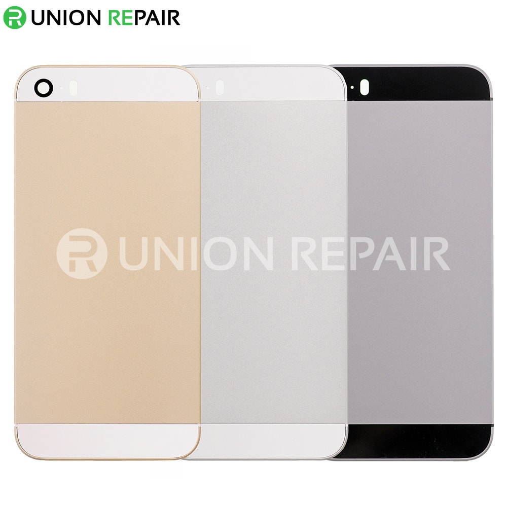 official photos 46d1f 5a079 Aftermarket Replacement for iPhone 5S Back Cover without Logo